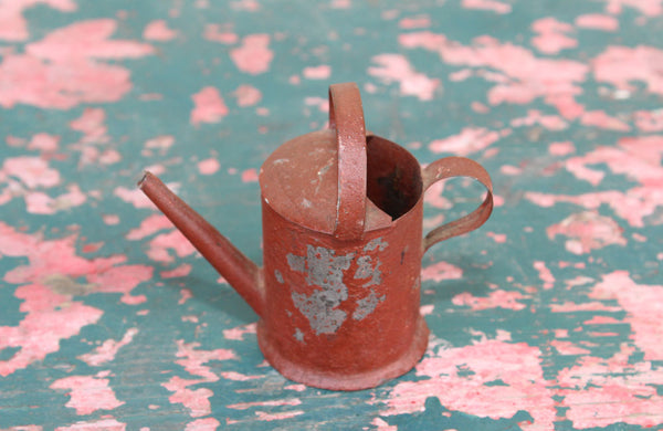 A Tiny Painted Tin Watering Can