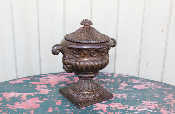 Victorian Cast Iron Lidded Urn