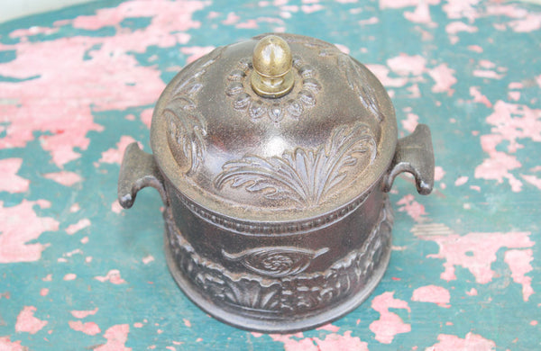 Victorian Cast Iron Tobacco Jar