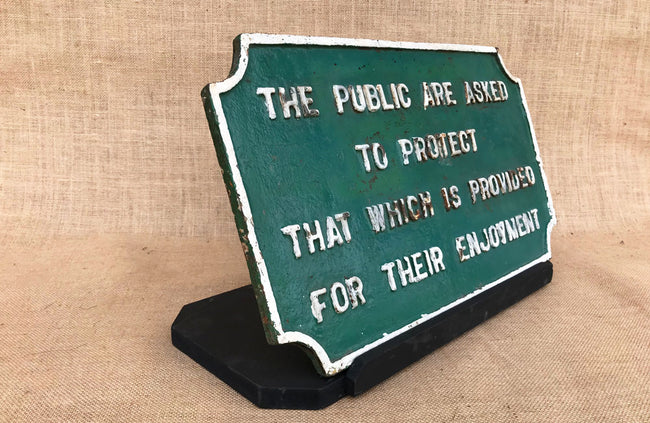 A Victorian Cast Iron Sign