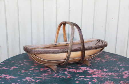A rare Edwardian picking trug
