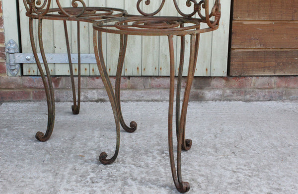 A Vintage Wrought Iron Love Seat