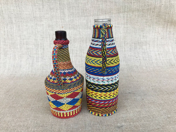 Hungarian plastic covered wire wrapped bottles