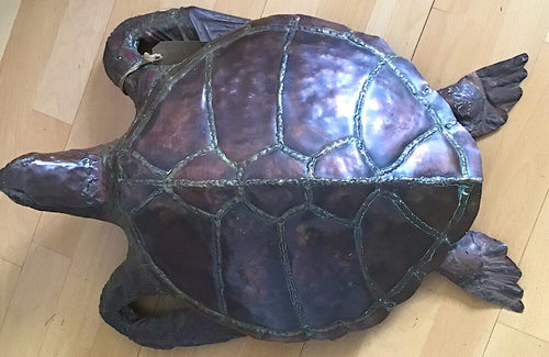 Early 20th century copper turtle