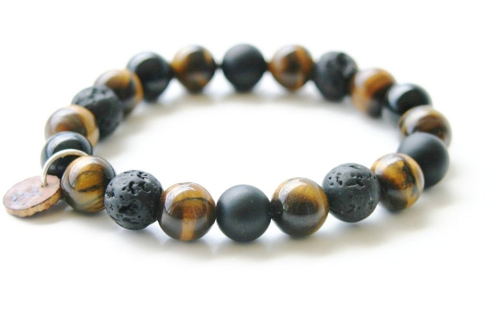 Men's Luxury Tiger Eye Bracelet | Madd5killz Design|Studio