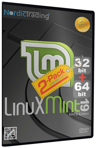 Linux Mint 19.3 MATE DVD 2-Pack