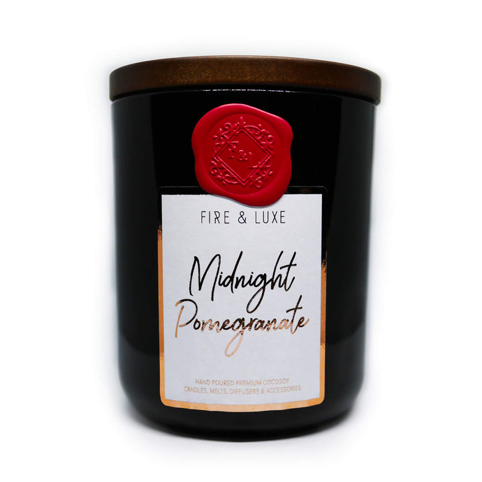 midnight black noir pomegranate candle cocosoy wax melt