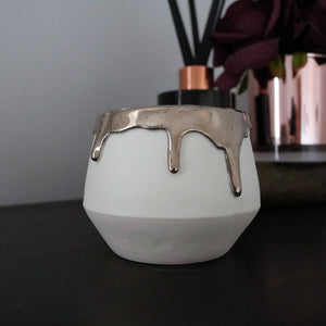 Dripping Lustre Porcelain Candle