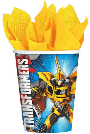 Transformers Birthday Party Supplies Pack with Party Planning eBook | Bundle Includes Plates, Napkins, Cups, and Table Cover