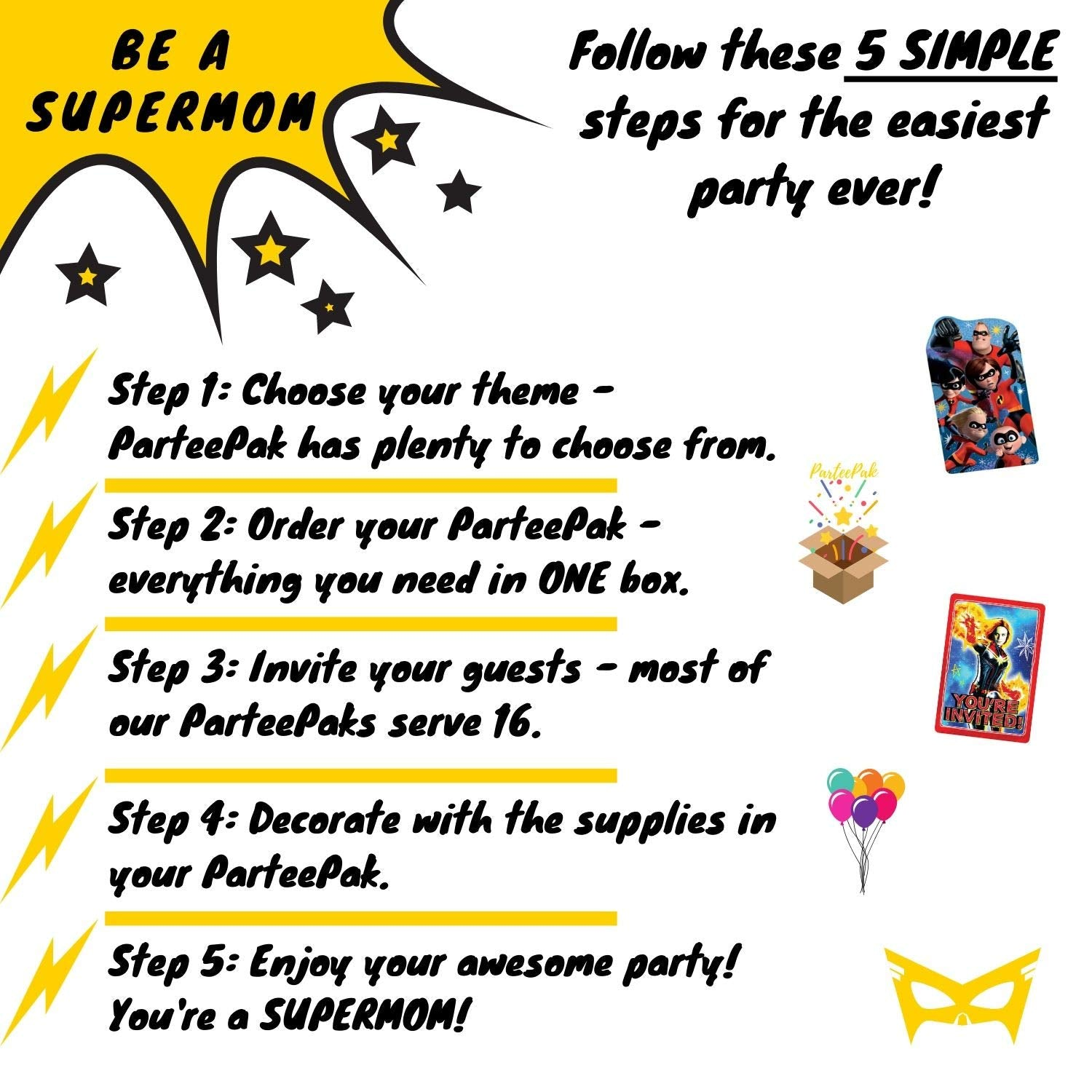 Disney Descendants 3 Basic Birthday Party Supplies Standard Kit for 16 with Party Planning eBook
