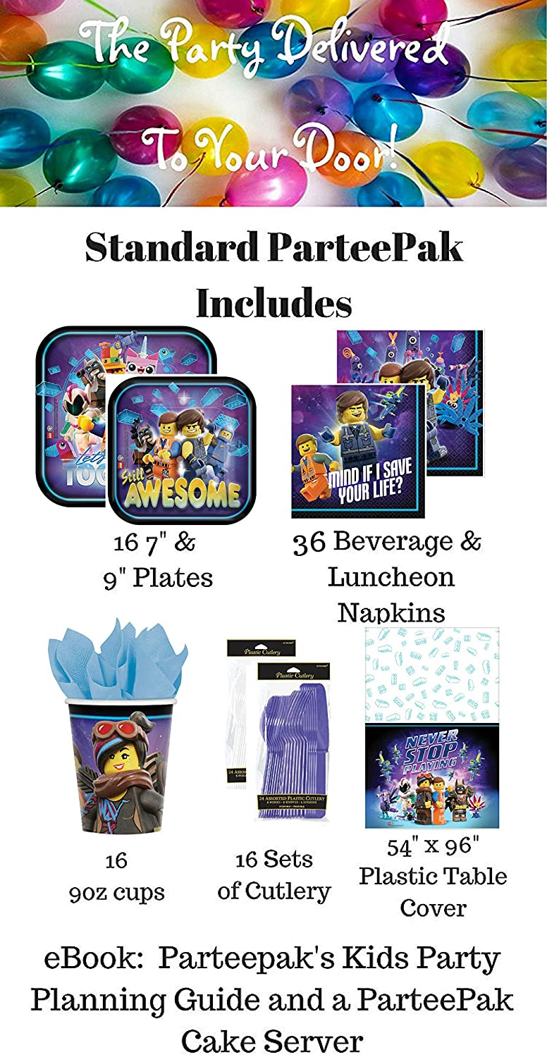 Lego Movie 2 Birthday Party Supplies - Standard (16 Guests)