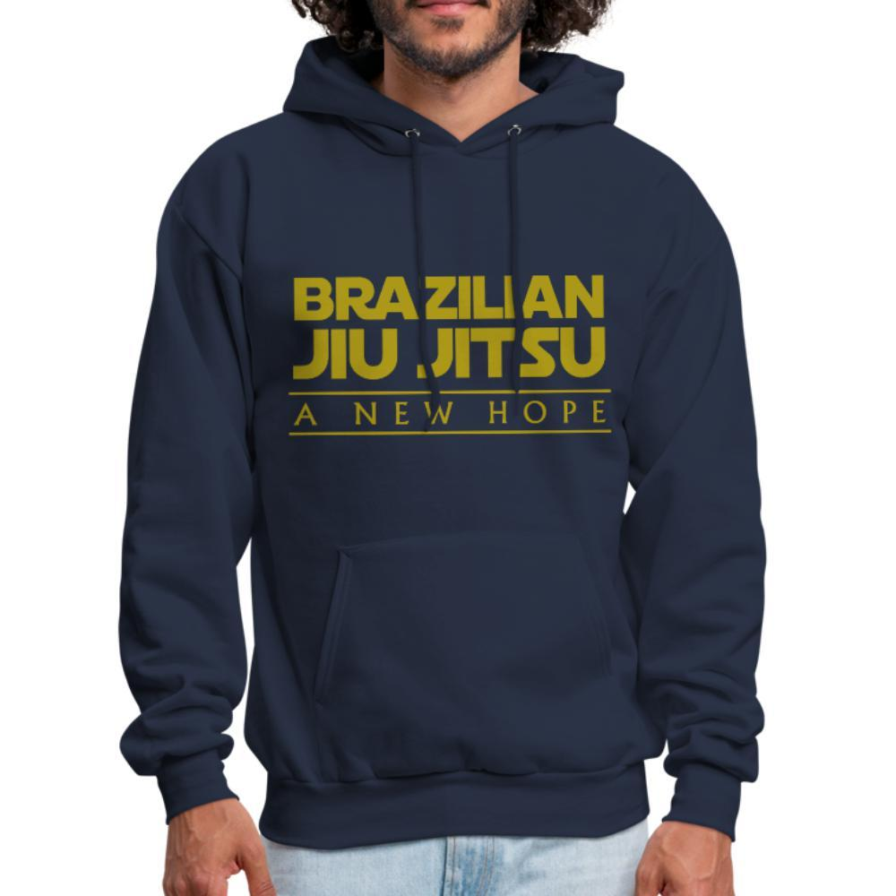BJJ a new hope Men's Hoodie - navy