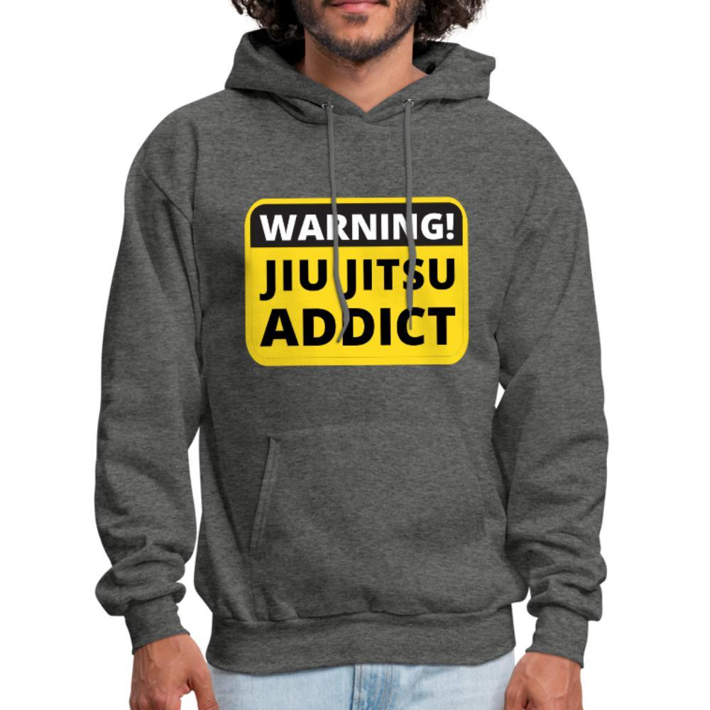 Jiu Jitsu Addict Men's Hoodie - charcoal gray