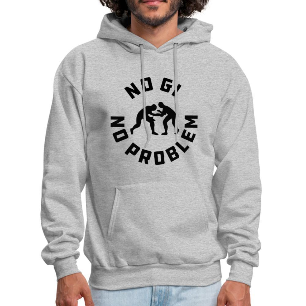 No Gi No Problem Men's Hoodie - heather gray
