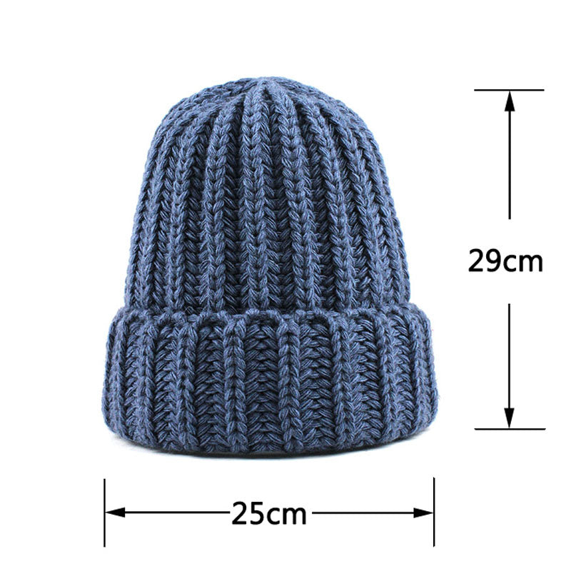 Knitting wool ball skullies beanies Casual streetwear Thick warm Women  beanie hat 44c0dc00a0f