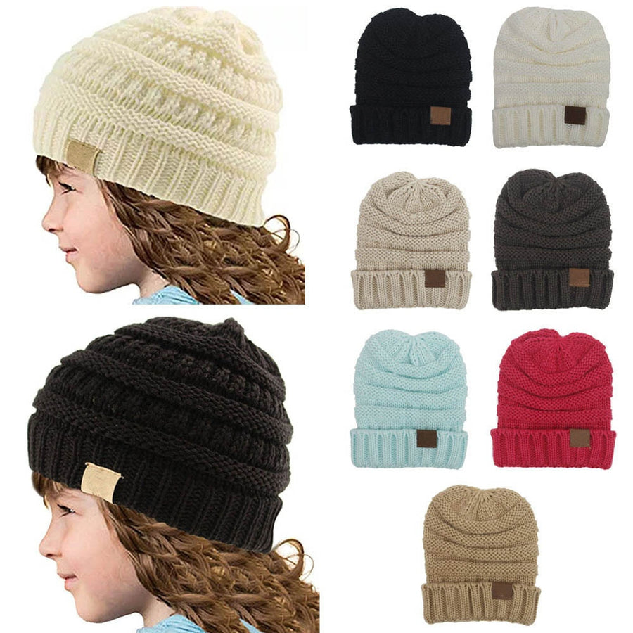 bd89a7c5077 Winter Hats For Kids Winter Knitted CC Trendy Hats Babies Knitting Beanie  Kids Fashion Warm Caps