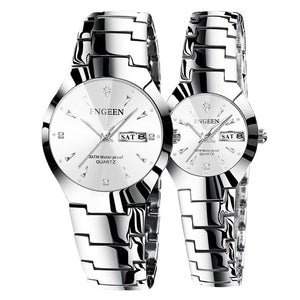 Tungsten Steel watches Pair for Couples