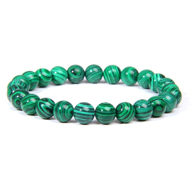 Handmade Natural Stone African Turquoises Beads Bracelet Men Yoga Mala Jewelry Green Moss Agates Beaded Bracelet for Women Men
