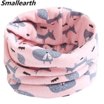 Animal Printed Cotton Scarf for Children