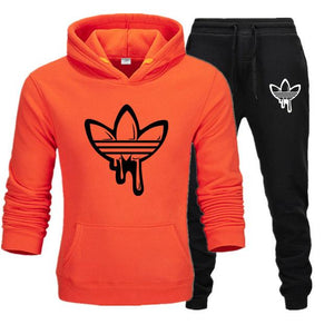 2020 New Two Pieces Set Fashion Hooded Sweatshirts Sportswear Men Tracksuit Hoodie Autumn Brand Clothes Hoodies+Pants men sets