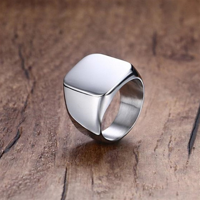Colored Square Top Titanium Rings