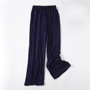 Wide Leg Pants For Women Casual Elastic High Waist modal New Fashion Loose Solid Long Pants Bell-bottoms Pant  Trousers Femme