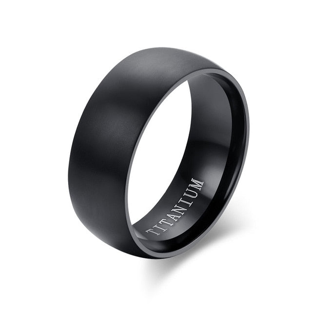 Matte Finished Titanium Steel Rings