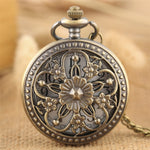 Flower Crafted  Pocket Ladies Bronze Fob Watch