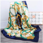 Large Square Foulard Silk Scarf
