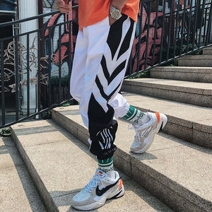 Streetwear Hip hop Joggers Pants Men Loose Harem Pants Ankle Length Trousers Sport Casual Sweatpants White Techwear