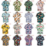 2020 Hawaiian cauliflower flower shirt series high-quality cotton short-sleeved lapel shirt
