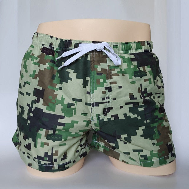 New Men's Board Shorts printed and striped Quick Drying Shorts Beach Summer Beach Short Pants fashion 2 Color -Man Plus Big Size