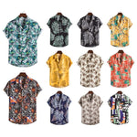 2020 Hawaiian beautiful flower series vegetable style characteristic high quality suit collar short sleeve shirt XH combination
