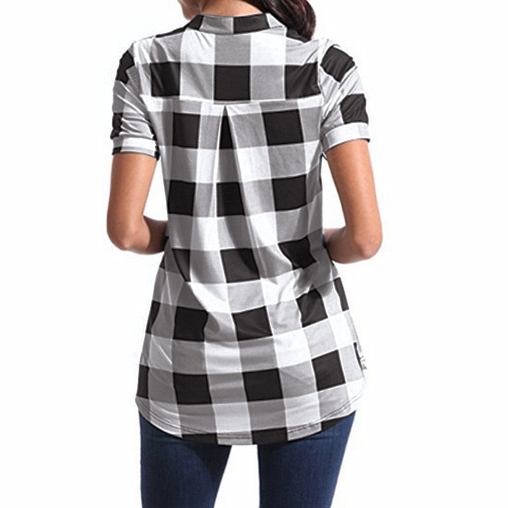 Short Sleeve Square Printed Shirt