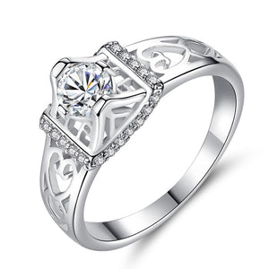 Oval Micro Pave Princess Cut Ring