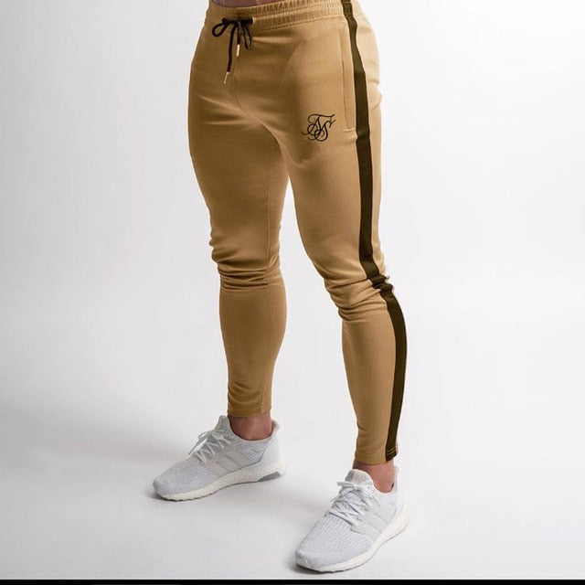 Men's high-quality Sik Silk brand polyester trousers fitness casual trousers daily training fitness casual sports jogging pants