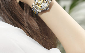 Automatic Mechanical Steel Ladies Watch