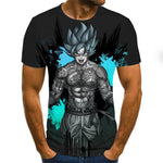 Short Sleeve Goku Dragon ball printed T Shirts