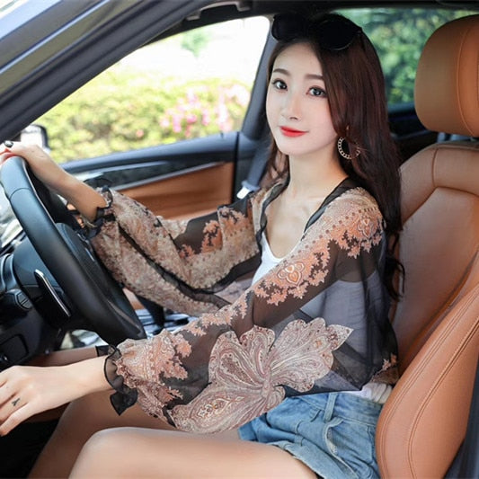 Anti UV Large Sleeve Blouse