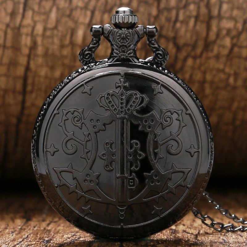 Kuroshitsuji Black Butler Theme Analog Fob Watch