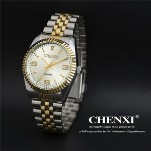 Round Dial Water Resistant Stainless Steel Analog Watches for Men and Women