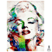 Marilyn Monroe - Mal Efter Tal for voksne - PAINT BY NUMBERS