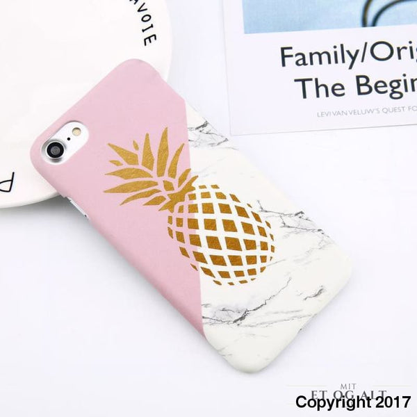 Ananas - Hård Cover Til Din Iphone - For Iphone 6 6S