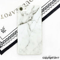 Elegant Marmor Cover - Must Have - Hvid / For Iphone 8