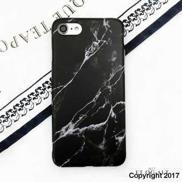 Elegant Marmor Cover - Must Have - Sort / For Iphone 8