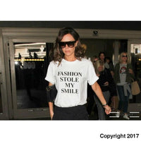 Fashion Stole My Smile - Victoria Beckham - T-Shirt