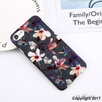 Flower Power - Mørkt Hård Cover Til Din Iphone - Blomst / For Iphone 6 6S