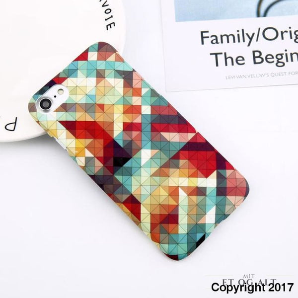 Geometrisk Cover Til Din Iphone - Hård Case - Geometrisk Hård Cover / For Iphone 6 6S