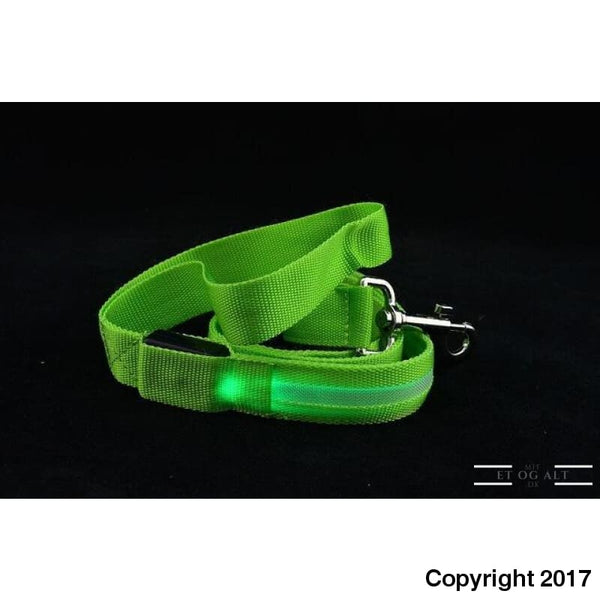 Hundesnor Med Led Lys - Usb Eller Batteri - Grøn / Batteri Version