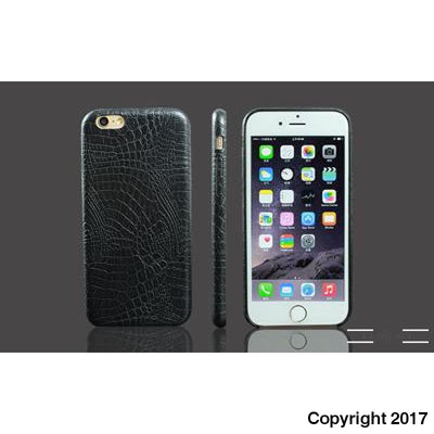 Krokodille Læder - Cover Til Din Iphone - 6 Farver - Sort / For Iphone 5 5S Se